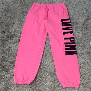 Hot pink PINK Victoria's Secret sweatpants